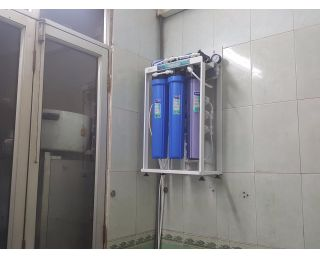 Hệ thống lọc nước tại nhà ăn của Công An